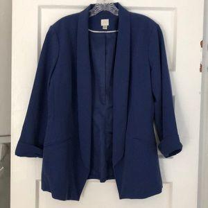 Lauren Conrad purple blue blazer sz 16